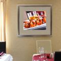 Silver framed prawns art print